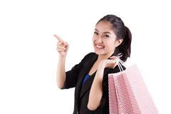 Business woman holding shopping bags Royalty Free Stock Photography