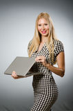 Business woman holding Stock Photos