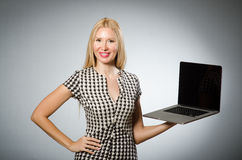 Business woman holding Stock Photography