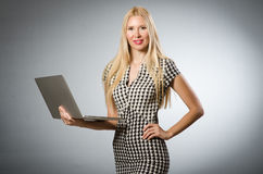 Business woman holding Royalty Free Stock Photo