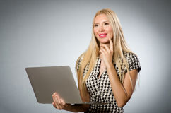 Business woman holding Stock Images