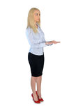 Business woman holding something Royalty Free Stock Photo