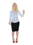 Business woman holding something Royalty Free Stock Photography