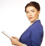 Business woman holding a tablet computer Stock Images