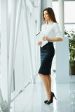 Business Woman Holding a Tablet Computer Stock Photography