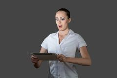 Business woman holding a tablet computer Royalty Free Stock Photography