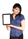 Business woman holding a tablet Stock Image