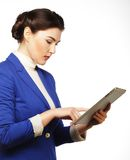 Business woman holding a tablet computer Royalty Free Stock Photos