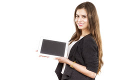 Business woman holding tablet computer Royalty Free Stock Photo