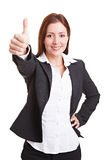 Business woman holding thumbs up Royalty Free Stock Image