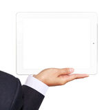 Business woman holding a touchpad pc Stock Photography