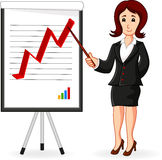Business Woman holding a training. Illustration of Business Woman holding a training Stock Photography