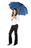 Business woman holding an umbrella Royalty Free Stock Images