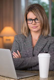 Business woman at home Stock Photography