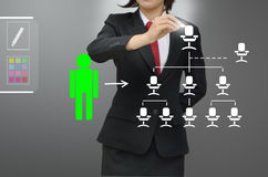 Business woman (hr) selected person talent stock illustration
