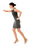 Business woman in a hurry Royalty Free Stock Photography