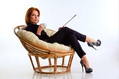 Business woman ib chair Stock Photo