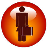 Business woman icon Royalty Free Stock Photography
