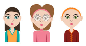 Business woman icon set Stock Images