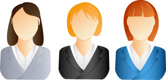 Business woman icons. Three different business woman icons Royalty Free Stock Image