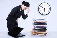 Business woman illness Stock Photos