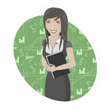 Business woman illustration Stock Photos