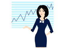 Business woman. Illustration of a business woman, at work Royalty Free Stock Image