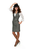 Business Woman In A Black Hat Royalty Free Stock Photos