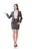 Business woman introduce Stock Images