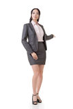Business woman introduce Stock Image