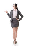 Business woman introduce Stock Photos