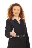 Business woman invite to join business Stock Images