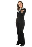 Business woman with an inviting hand Stock Images