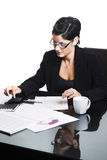 Business woman - isolated Royalty Free Stock Images