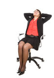 Business woman isolated Royalty Free Stock Photos