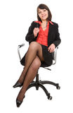 Business woman isolated Stock Images