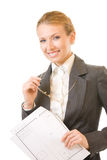 Business woman, isolated Stock Photos
