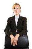 Business woman isolated over white Stock Photo