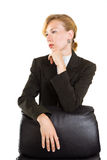 Business woman isolated over white Royalty Free Stock Image