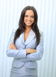 Business woman. Isolated over white Royalty Free Stock Images