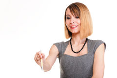 Business woman. Isolated Royalty Free Stock Photography