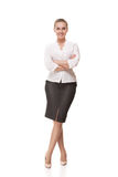 Business woman isolated over white background Stock Image