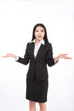 Business woman. Isolated over white background Royalty Free Stock Photo
