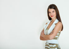 Business woman. Isolated over white background Royalty Free Stock Image