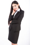 Business woman. Isolated over white background Stock Photography
