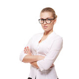Business woman isolated over white background Stock Photo