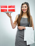 Business woman isolated portrait. Stock Photo