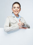 Business woman isolated portrait . Stock Photos
