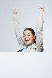 Business woman isolated portrait . Royalty Free Stock Image