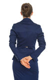 2 business woman isolated rear view white Royaltyfri Fotografi